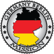 Germany Berlin LDS Mission Flag Cutout Map - Called to Serve