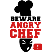 BEWARE angry CHEF! with a speech bubble !