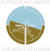 A flying attitude!