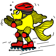 Rollerblading fish , read gear