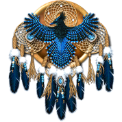 Native American Mandala - Steller's Jay