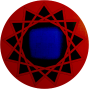 Sacred Geometry - Red Yantra of Protection - 13 pointed star