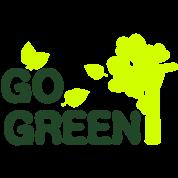 GO GREEN TXT trees