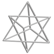 Merkaba, 3D, digital silver, divine light vehicle, sacred Geometry