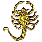 "Scorpion ""Drive"", gold digital, Scorpio,"