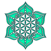 Flower of life, Lotus - Flower, green, Symbol of perfection and balance