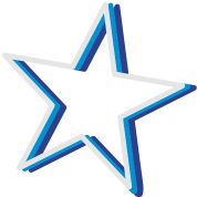 a neon sign as a star