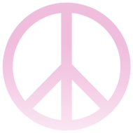 Design ~ PINK OMBRE PEACE SIGN