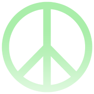 Design ~ MINT OMBRE PEACE SIGN