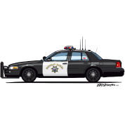 California Highway Patrol CHP Crown Vic (with Lightbar)
