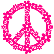 PEACE SYMBOL - peace sign, c, symbol of freedom, flower power, hippie, 68er movement, Woodstock