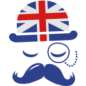 Vintage English Gentleman Sir Boss with Moustache