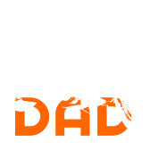 Biker DAD White/Orange Motorcycle