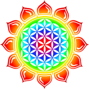 Flower of life, Lotus-Flower, Heart Chakra, Rainbow, energy symbol, healing symbol