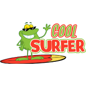 Cool Surfer Frog Design