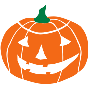 2 color Halloween Pumpkin vector