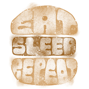 Burger eat sleep repeat