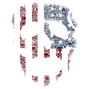 American skull stencil