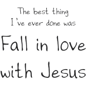 Fall in love w/Jesus