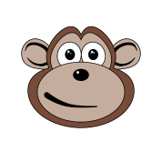 Cartoon Monkey Face