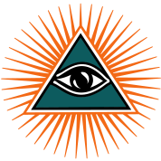 All seeing eye, triangle, god, Symbol omniscience