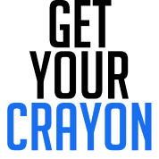 Get Your Crayon Blue (Black)