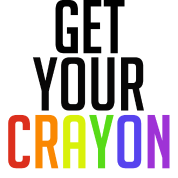 Get Your Crayon Rainbow (Black)