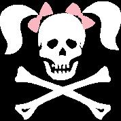 Skull Crossbones Pigtails