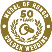 MEDAL OF HONOR 50th GOLDEN WEDDING