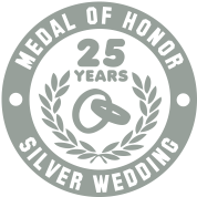 MEDAL OF HONOR 25th SILVER WEDDING