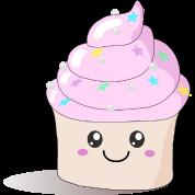 Pink Cute Cupcake