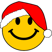 Santa Smiley Face for Christmas