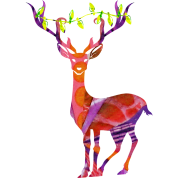 DEER with XMAS LIGHTS