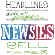 Newsies Sell Papes