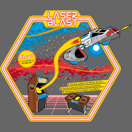 Design ~ Laser Blast (for darkshirts)
