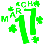 March 17 lucky charm st. Patrick's day