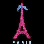 Hot Pink Paris Eiffel Tower