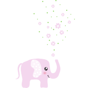 Cute Pink Elephant cartoon