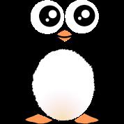 Cute Black Penguin