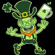 Euphoric Leprechaun Celebrating St Patrick's Day