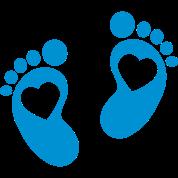 Baby - footprint - heart