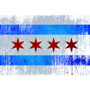 Vintage Distressed Classic Chicago City Flag