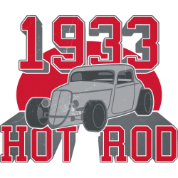 Hot Rod 1933 vintage-look