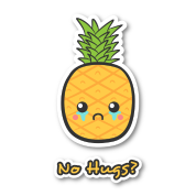 sad but cute pineapple that does not ge