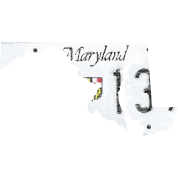 Maryland State License Plate Clothing Shirts Tees