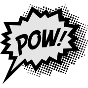 Comic POW, Super Hero, Cartoon, Fun, Speech Bubble
