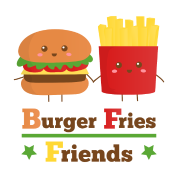 burger and fries friends BFF
