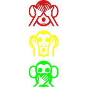 Three Wise Monkeys Emoji Vertical