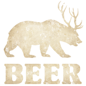 Vintage Bear+Deer=Beer