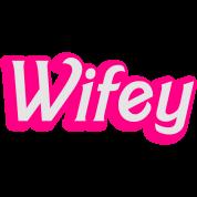 Wifey Wife woman in cute girly font